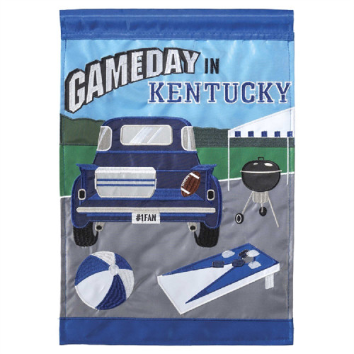 Kentucky Game Day Garden Flag