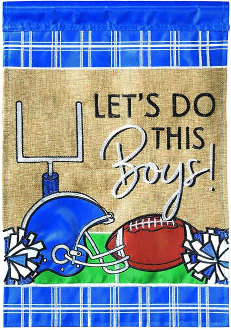Football Let's Do This Garden Flag