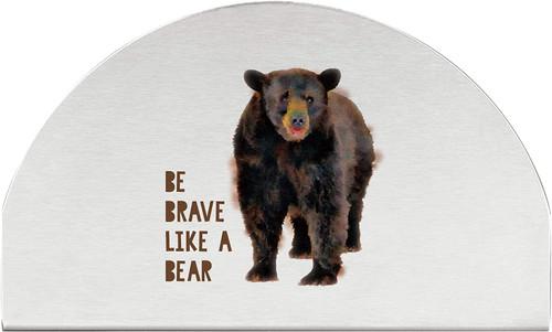 Black Bear Stainless Steel Napkin Holder