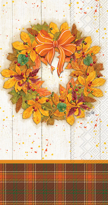 Fall Wreath Autumn Guest Towel