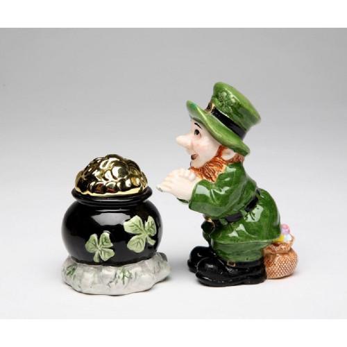 Leprechaun & Pot of Gold Salt and Pepper Set