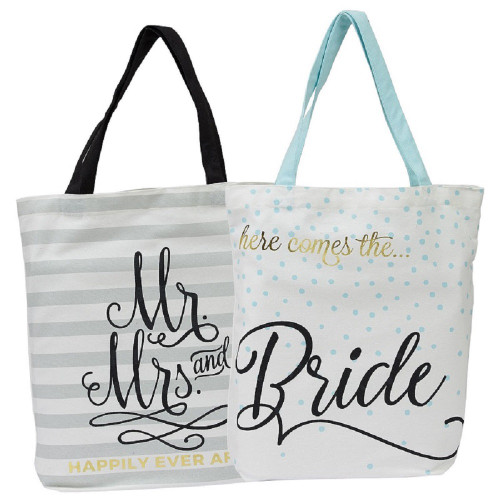 Mr & Mrs Wedding Tote Set of Two