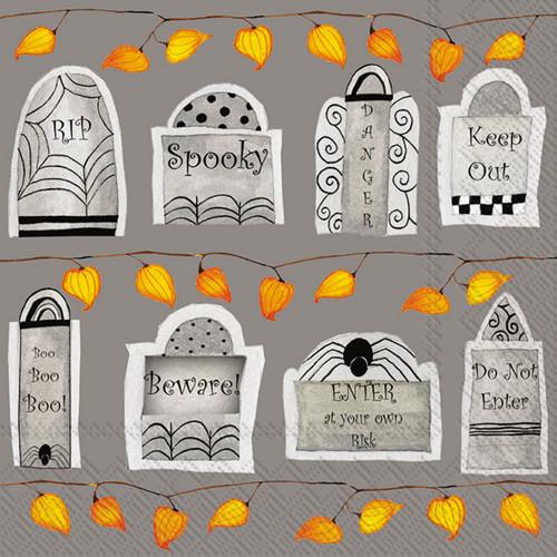 Halloween Tombstone Luncheon Napkin