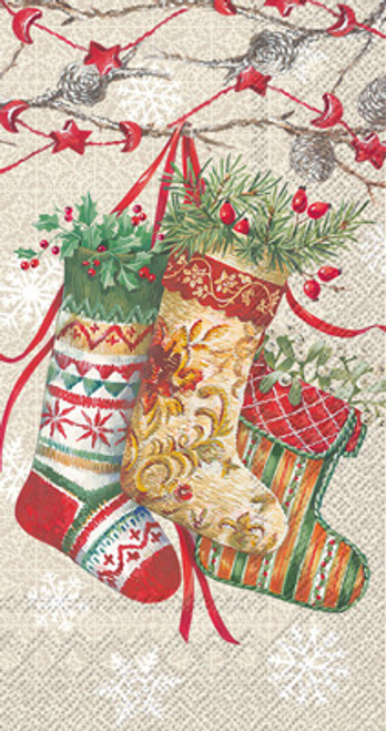 Decorative Stockings Holiday Guest Towel