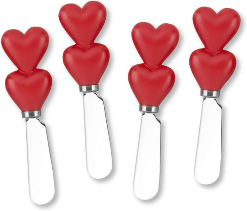 Valentine Hearts Cheese Spreader Set