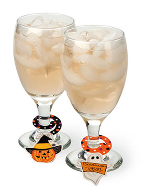 Haunted Halloween Paper Beverage Charms
