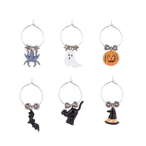 Spook Gang Halloween Wine Charm Set