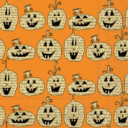 Pumpkin Toss Halloween Luncheon Napkin