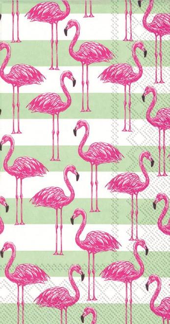 Flamingo Stripe Guest Towel