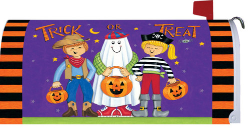 Trick or Treat Dogs Halloween Mailbox Cover