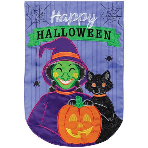 Witchy Halloween Garden Flag