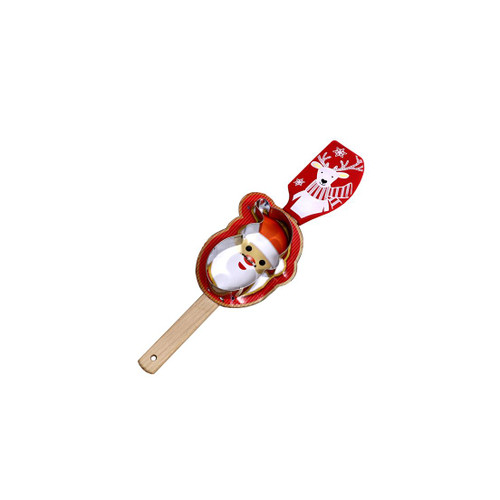 Holiday Reindeer Spatula with Santa Cookie Cutter