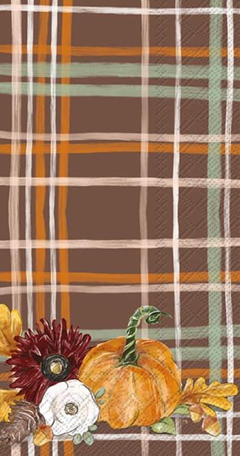 Fall Foliage Plaid Autumn Guest Towel
