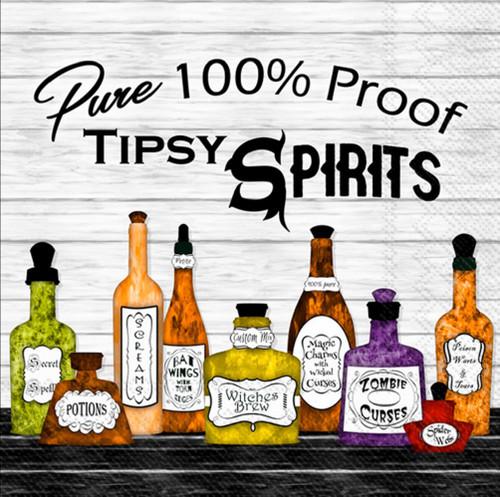 Tipsy Spirits Halloween Cocktail Napkin