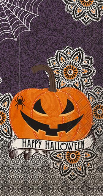 Happy Halloween Jack-o-Lantern Pumpkin Guest Towel