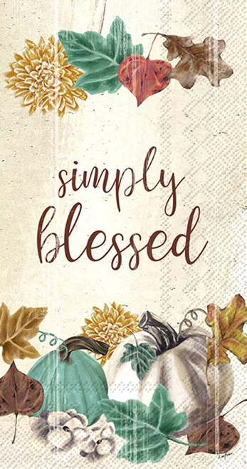 Simply Blessed Autumn Guest Towel
