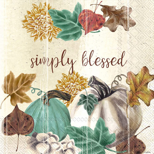 Simply Blessed Autumn Cocktail Napkin
