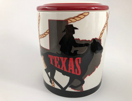Texas Ceramic Cookie Jar Canister