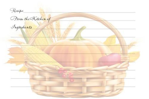 Bountiful Basket Blessings Recipe Card Pack of 40