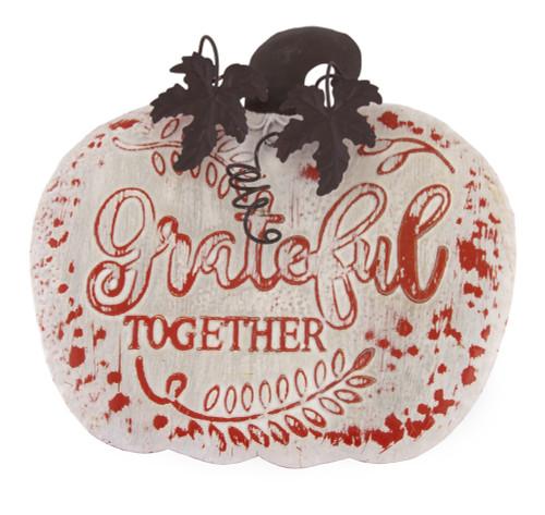Grateful Together Metal Autumn Sign