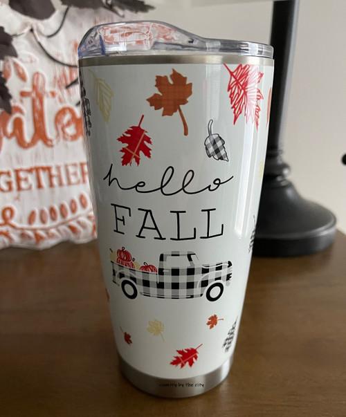 Hello Fall Autumn Travel Tumbler