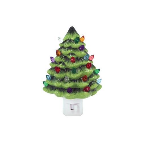 Vintage Christmas Tree Night Light