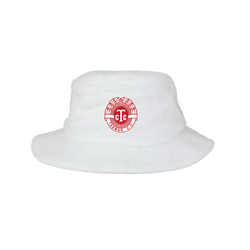 Tasman CC Terry Towelling Bucket Hat - WHITE Supporters