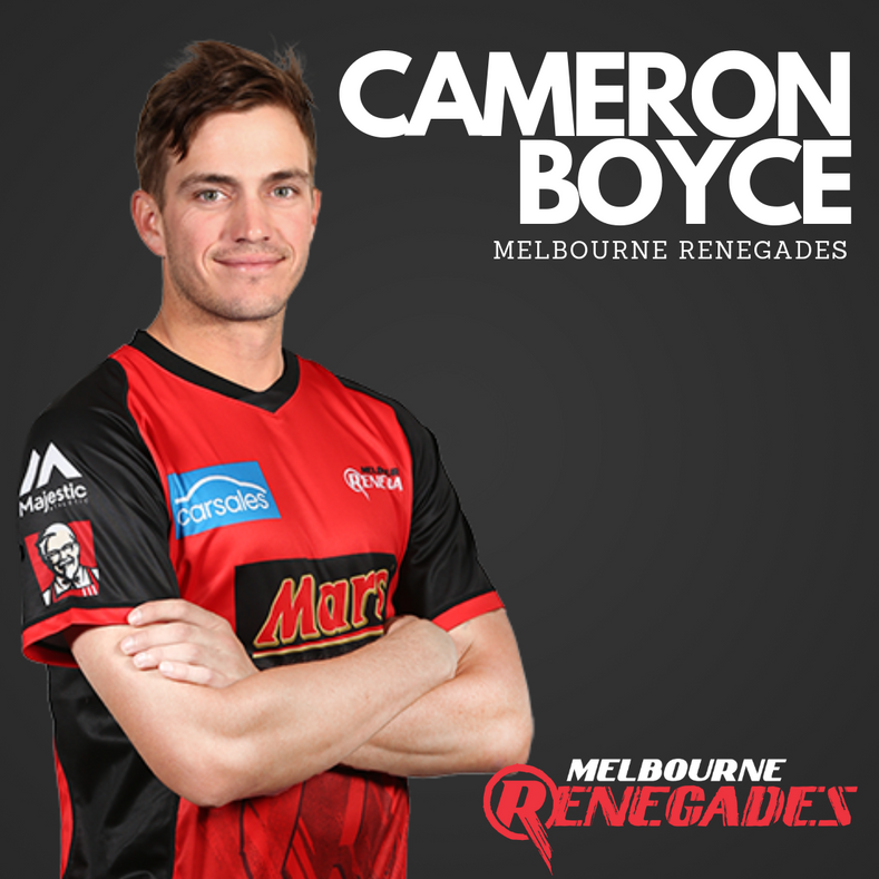 Renegade Boyce joins ACE Cricket