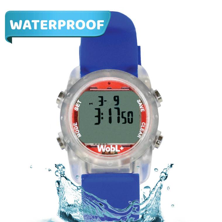 WobL+  Watch, blue, waterproof.