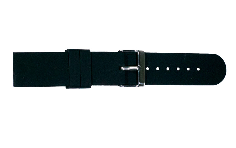WobL+ black silicone watchband.