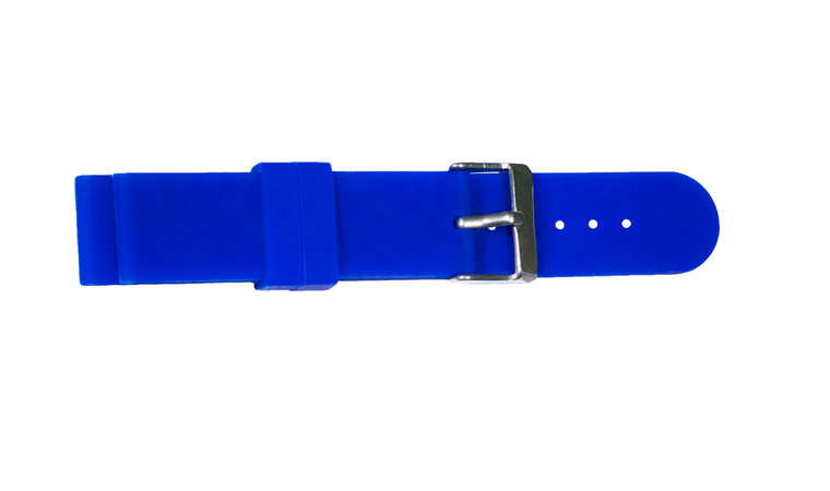 WobL+ blue silicone watchband.