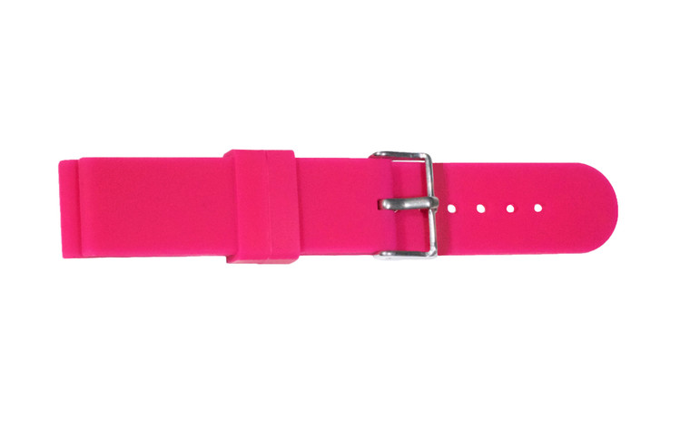 WobL+ pink silicone watchband.