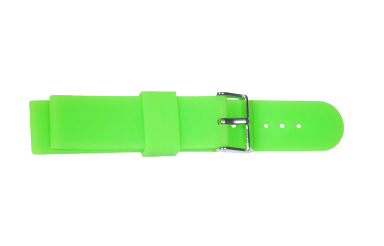 WobL+ green silicone watchband.