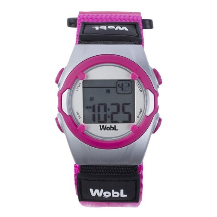 WobL vibrating reminder watch, pink model.