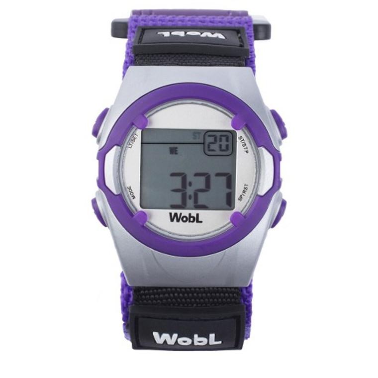 WobL vibrating reminder watch, purple model.