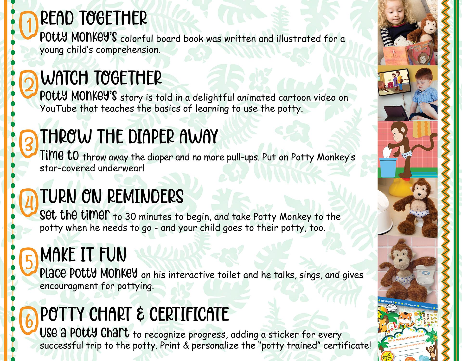 Potty Monkey system in 6 steps