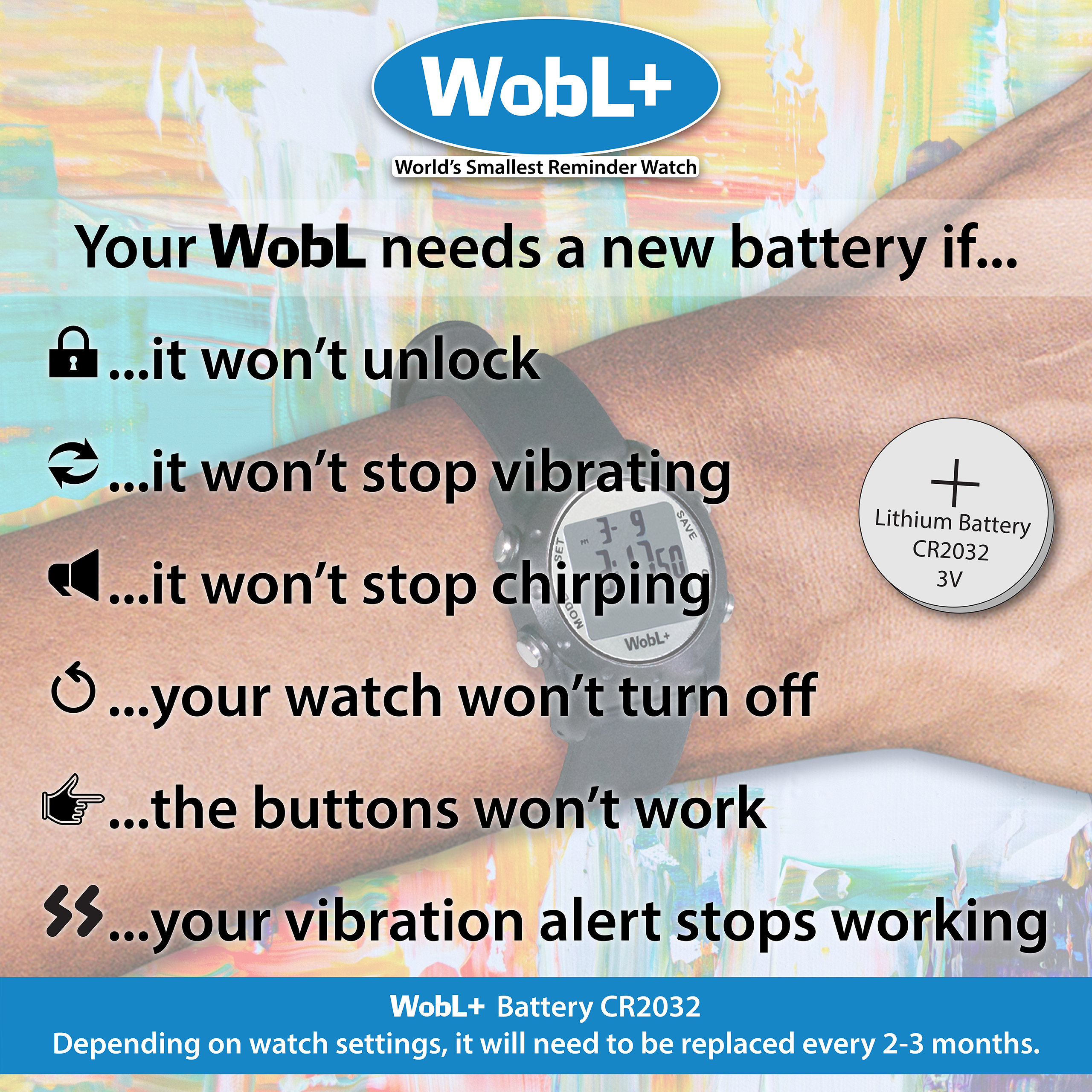 How to know if your WobL watch battery should be replaced