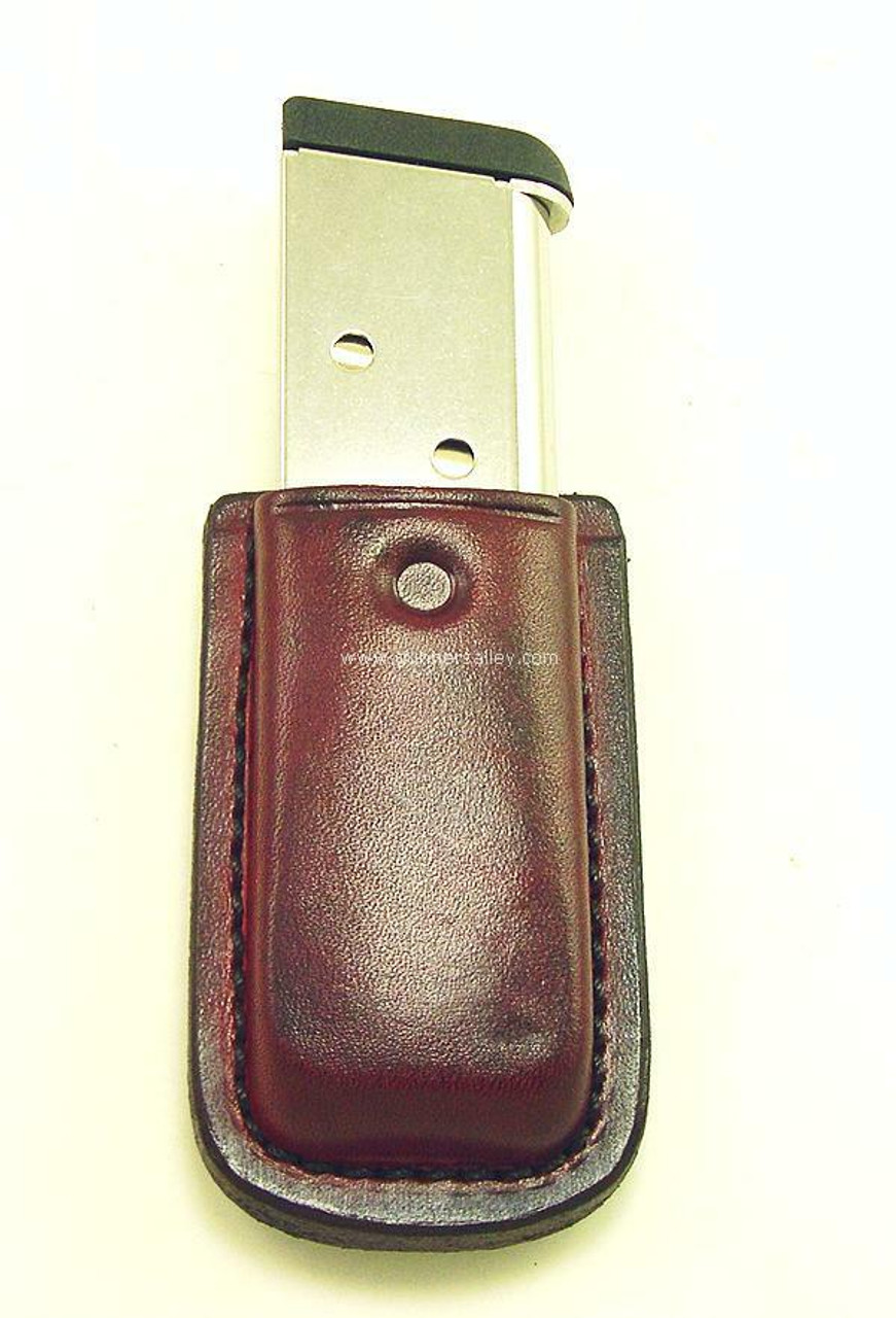 Shown in Saddle Brown with Single Stack 1911 Magazine - Rear View