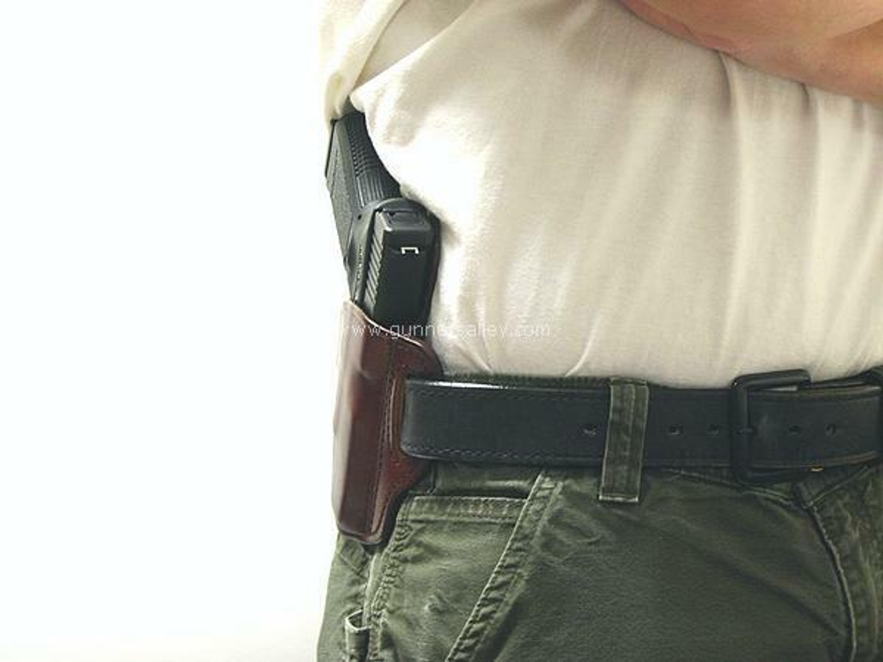 Profile View - RH Model - Shown on the Belt with a Glock 19 for Demonstration Purposes - Right Hand