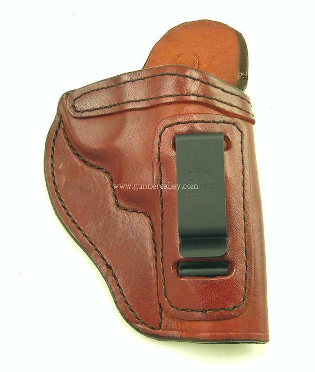 """Front View - Saddle Brown - Right Hand - Shown for a S&W J Frame 3"""" Revolver for Demonstration Purposes"""