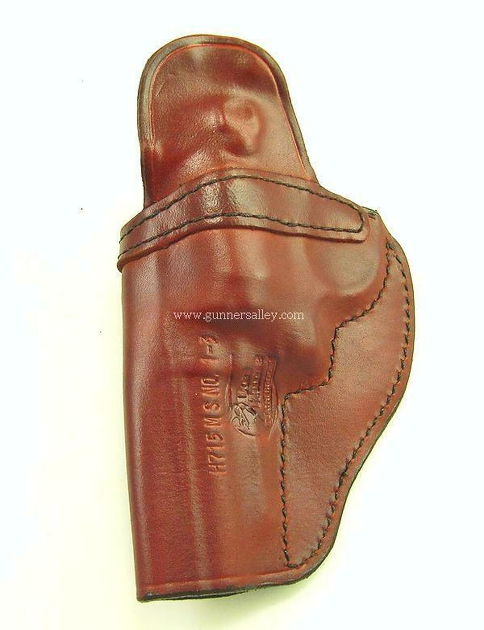 """Rear View - Saddle Brown - Right Hand - Shown for a S&W J Frame 3"""" Revolver for Demonstration Purposes"""