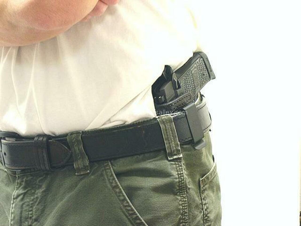 Profile View - LH Model Shown on the Belt with a Sig P238 for Demonstration Purposes