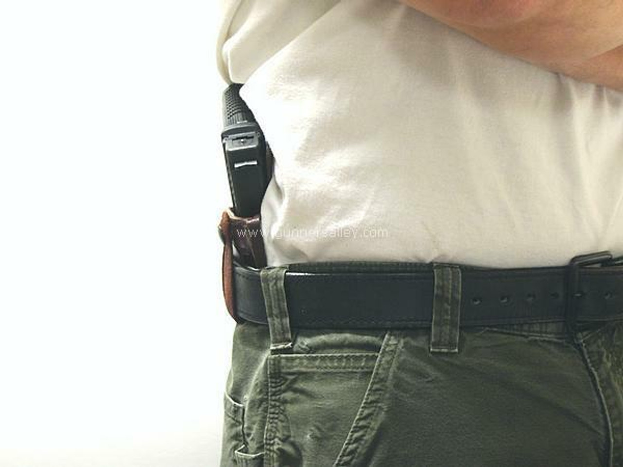Profile view - Shown on the Belt with a Springfield XD SubCompact 9mm for Demonstration Purposes