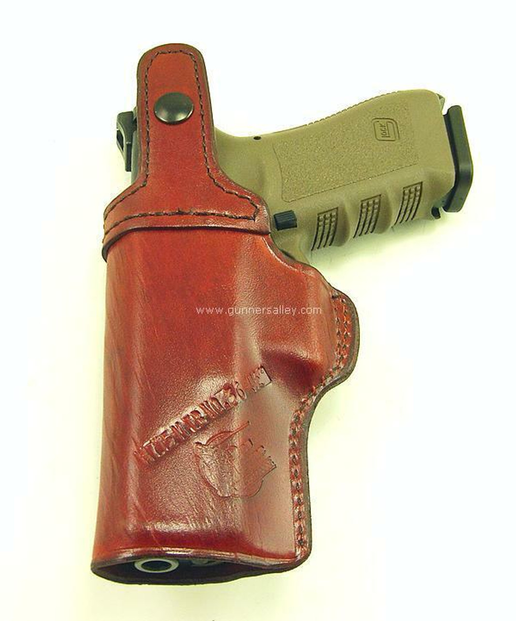 Saddle Brown - Rear View - Right Hand - Shown with a Glock 17 for Demonstration Purposes
