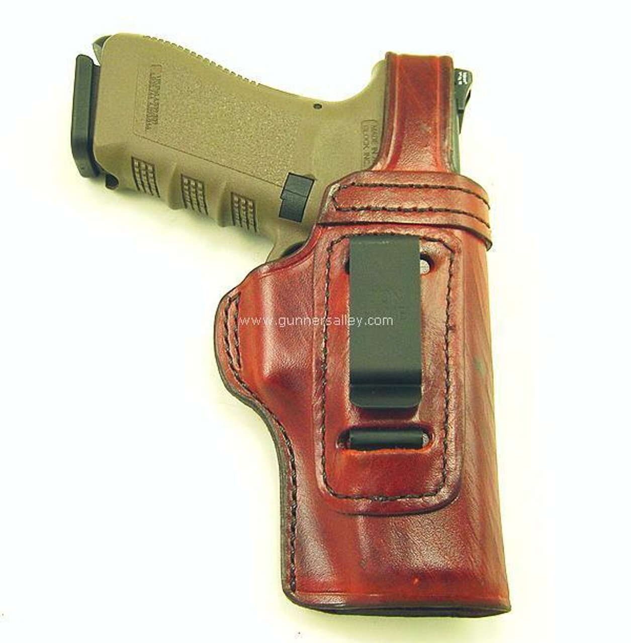 Saddle Brown - Front View - Right Hand - Shown with a Glock 17 for Demonstration Purposes