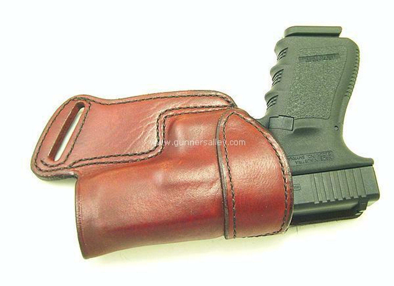 Front View - RH Saddle Brown - Shown with a Glock 19 for Demonstration Purposes