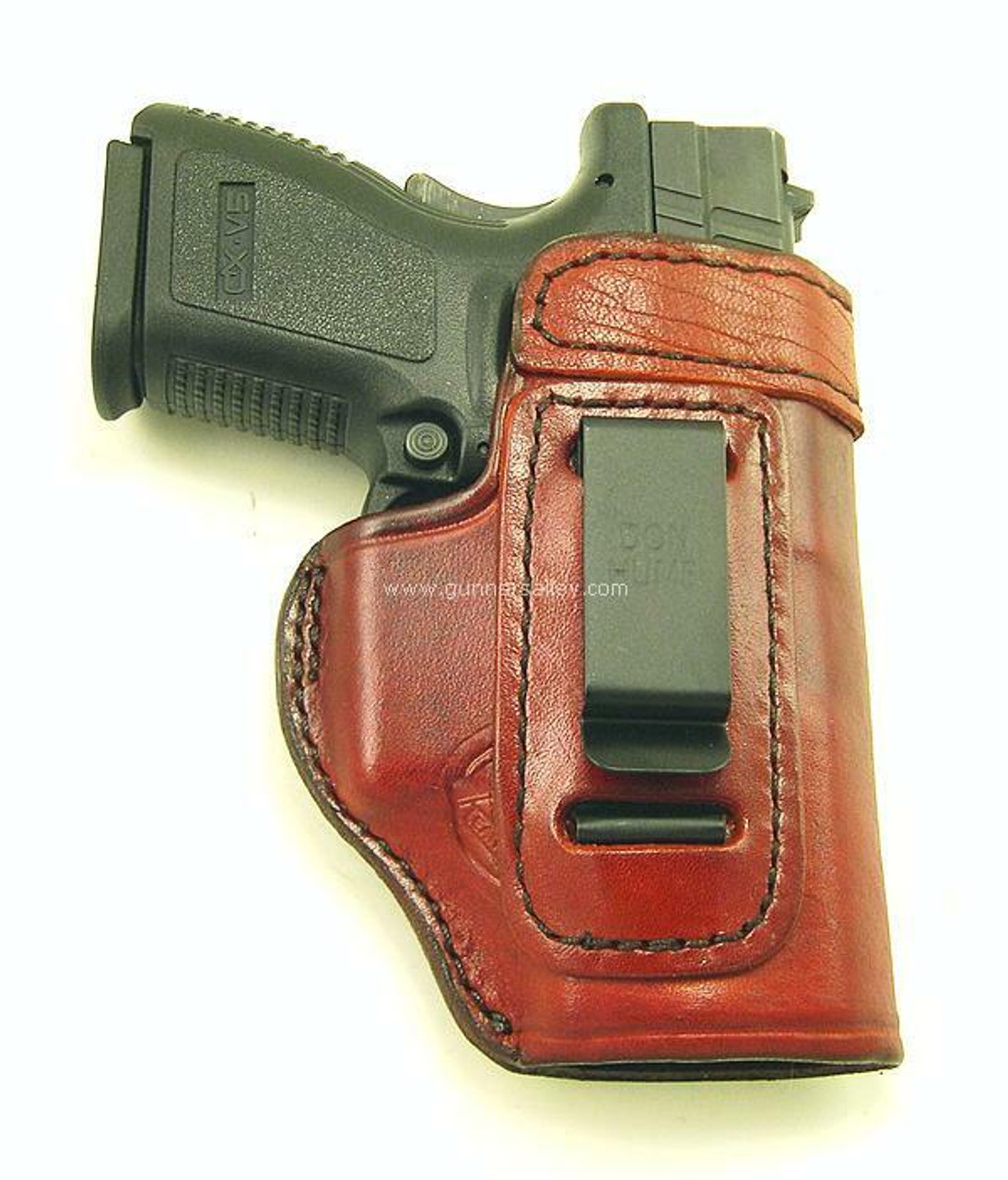 Saddle Brown - Front View - Shown with a Springfield XD SubCompact for Demonstration Purposes