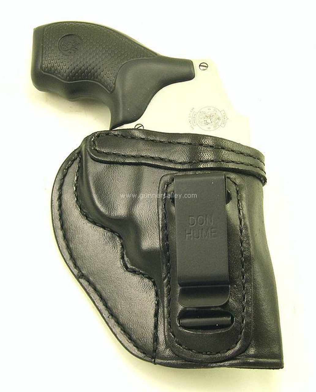 """Black - Front View - Shown with a S&W J Frame 2"""" Revolver for Demonstration Purposes"""