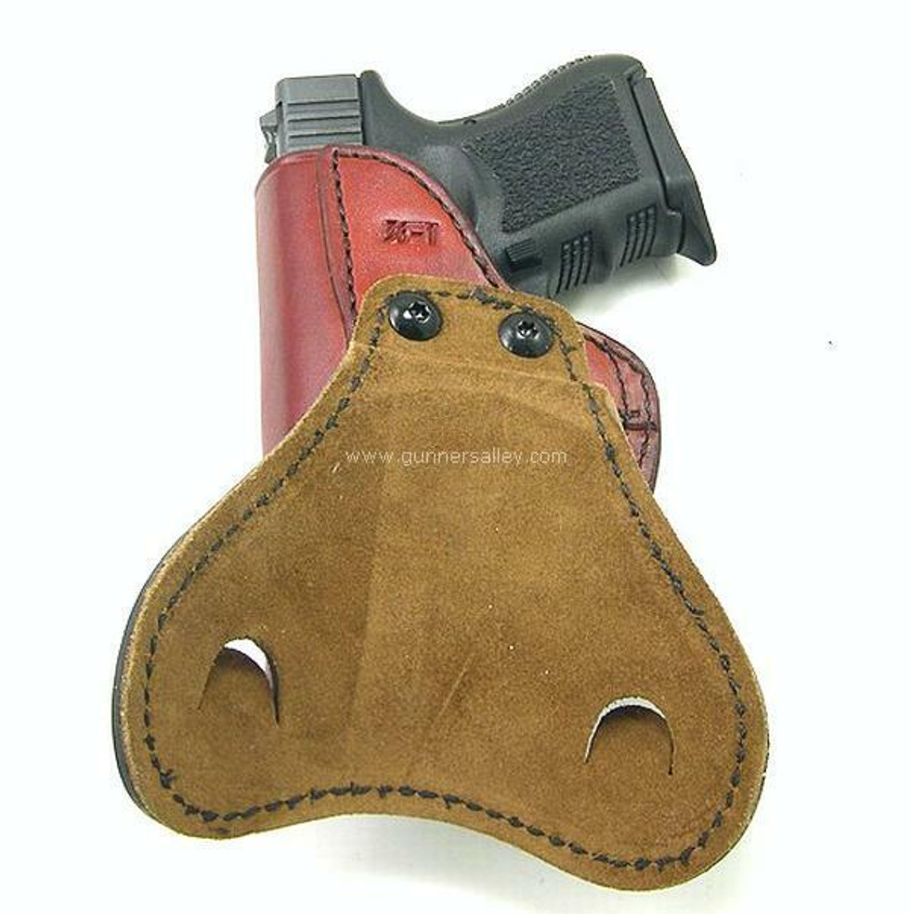 Saddle Brown - Rear View - Shown with a Glock 19 for Demonstration Purposes