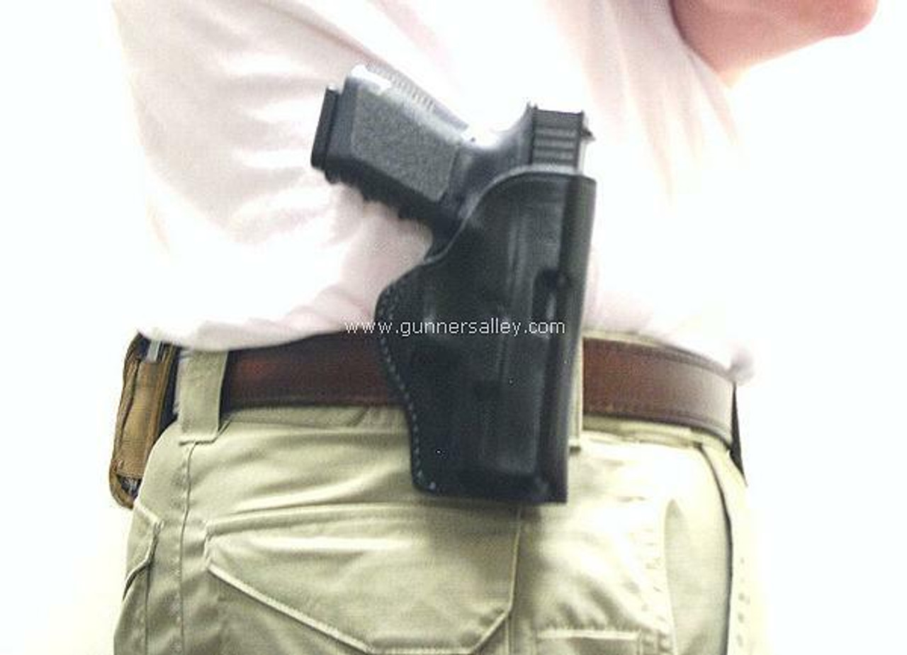 RH Black Model - Shown on the Belt with a Glock 19 for Demonstration Purposes